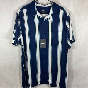 DKNY Short Sleeve Stripe Pocket Shirt